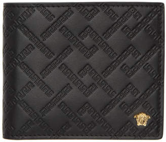 Versace Black Greek Key Wallet