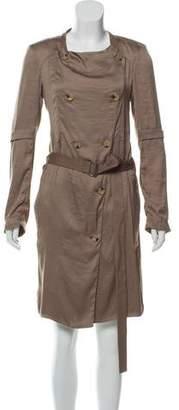 Helmut Lang Long Sleeve Button-Up Dress