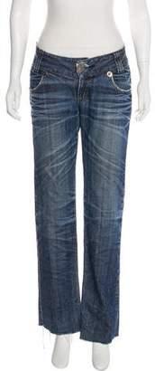 Thomas Wylde Mid-Rise Straight-Leg Jeans