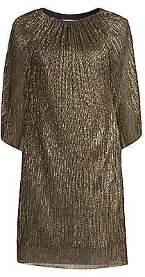Trina Turk Women's Eastern Luxe Hima Metallic Cape Dress
