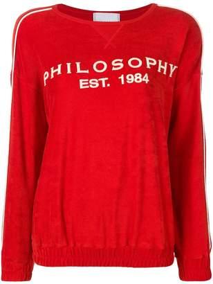 Philosophy di Lorenzo Serafini embroidered logo sweater