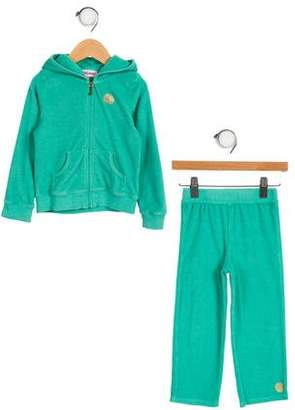 Juicy Couture Girls' Hooded Track Set