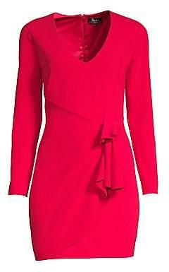 Parker Black Women's Aggie Long Sleeve Stretch Crepe Dress
