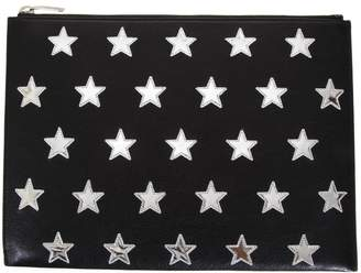 Saint Laurent Embossed Leather Clutch With Stars