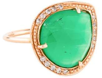 Jacquie Aiche 14K Chrysoprase & Diamond Cocktail Ring