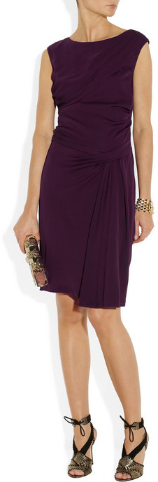 Diane von Furstenberg Bec draped stretch-silk dress