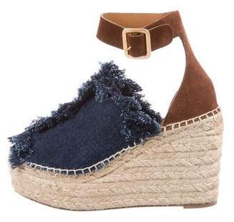 Chloé Denim Espadrille Wedges