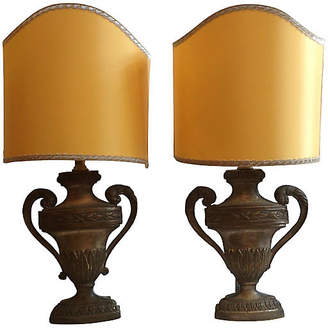 One Kings Lane Vintage 19th-C. French Carved Urn Lamps - Set of 2 - Antiques on Jackson