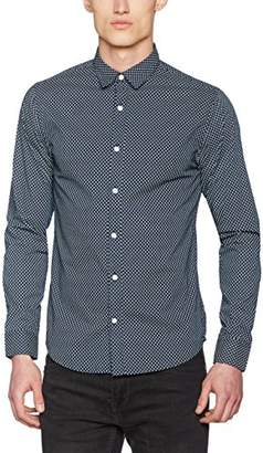 ONLY & SONS Men's onsCLAES LS Shirt Casual, Multicolour Bright White, L