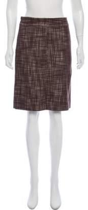 Marc Jacobs Virgin Wool-Blend Tweed Skirt Brown Virgin Wool-Blend Tweed Skirt