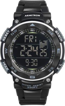 Armitron Men's Digital Black Silicone Strap Watch 51mm 40-8254BLK