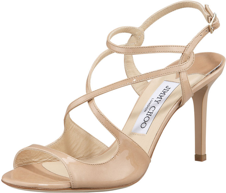 Jimmy Choo Paxton Strappy Patent Sandal
