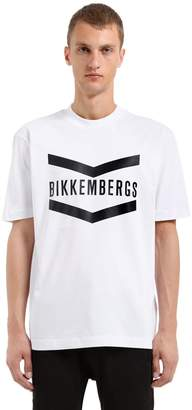 Bikkembergs Oversized Logo Cotton Jersey T-Shirt