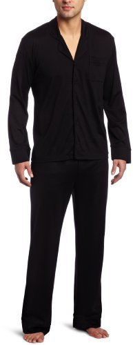 American Essentials Men's Sleepwear Premium Silk Cotton 2-Piece Pajama Set