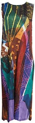 Pleats Please Issey Miyake Swinging Spices Sleeveless Midi Dress