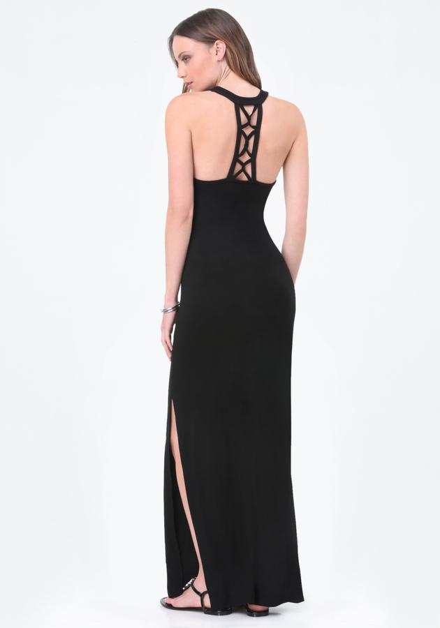 BebeLogo Cage Strap Maxi Dress