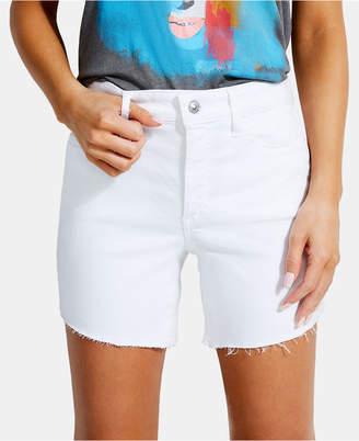 GUESS 1981 Frayed Denim Shorts
