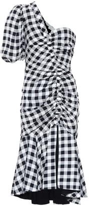 Jonathan Simkhai Checked crepe dress