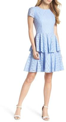 Gal Meets Glam Daisy Lace Tiered Fit & Flare Dress (Nordstrom Exclusive)