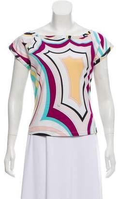 Emilio Pucci Print Short Sleeve Top