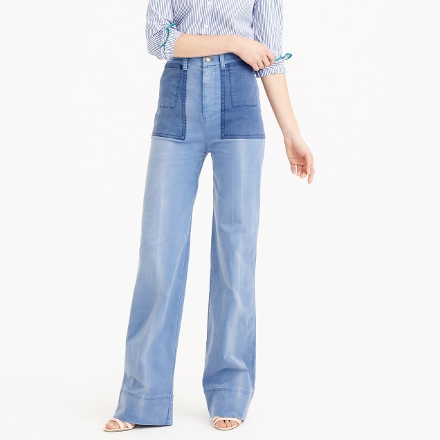 J.CrewDistressed full-length chino pant with patch pockets