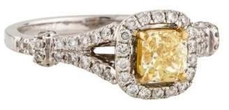 18K Fancy Yellow Diamond Engagement Ring