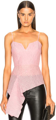 Roland Mouret Garforth Rippled Cotton Silk Top