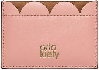 Orla Kiely Giant Scallop Leather Card Holder - Tan