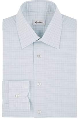 Brioni Men's Checked Cotton Dress Shirt