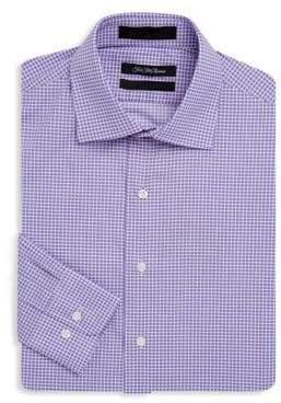 Saks Fifth Avenue Slim-Fit Windowpane Cotton Dress Shirt
