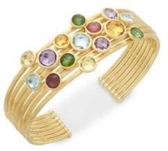 Marco Bicego 18K Yellow Gold & Gemstones Cuff Bracelet