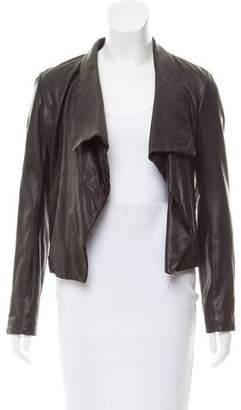 Theory Leather Open-Front Jacket