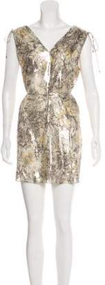 Haute Hippie Silk Mini Dress w/ Tags multicolor Silk Mini Dress w/ Tags