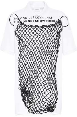 Burberry Oversized cotton pique polo shirt