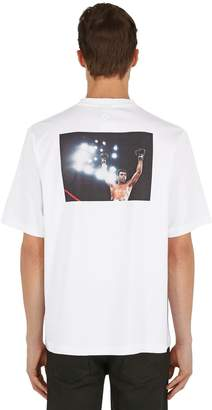 Marcelo Burlon County of Milan Oversized Ali Ring Print Jersey T-Shirt