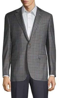 Canali Plaid Wool Jacket