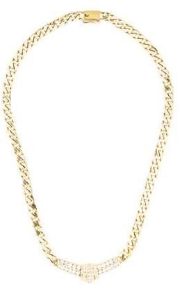 18K Diamond Curb Link Chain Necklace