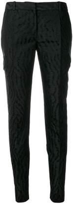 Givenchy Moiré slim fit trousers