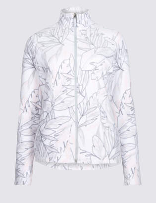 M&S Collection Printed Fleece Jacket