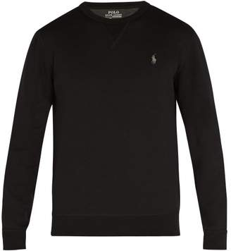Polo Ralph Lauren Logo Embroidered Jersey Sweatshirt - Mens - Black