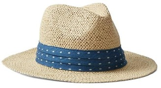 Pleated chambray straw panama hat $24.95 thestylecure.com