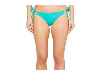 Echo Solid String Bikini Bottom Women's Swimwear