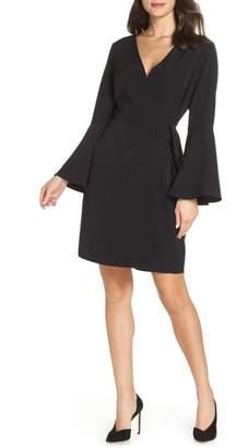 Sam Edelman Bell Sleeve Faux Wrap Dress