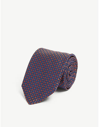 HUGO Circle and dot silk tie