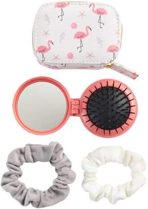Lauren Conrad Beachy Flamingos Travel Hair Kit