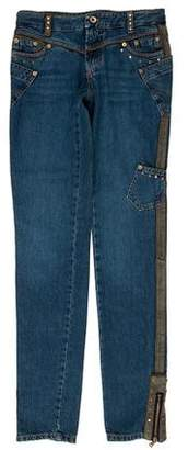 Dolce & Gabbana Mid-Rise Studded Jeans