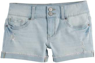 Mudd Girls 7-16 & Plus Size Denim Shortie Shorts
