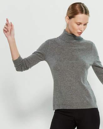 InCashmere In Cashmere Long Sleeve Cashmere Turtleneck