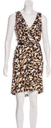 Diane von Furstenberg Abstract Print Mini Dress
