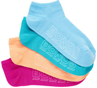 Bonds Womens Logo Light Low Cut Socks 4 Pack